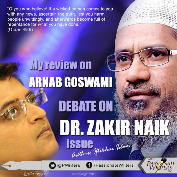 Arnab Goswami Dr. Zakir Naik debate on Times Now